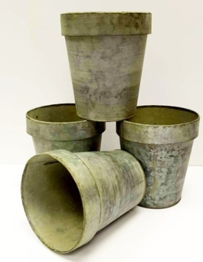 Large Zinc Flower Pot